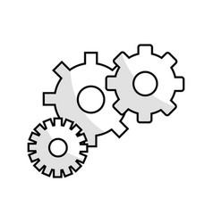 Figure gears symbol process industry vector