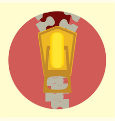 flat tailor zipper icon vector image vector image