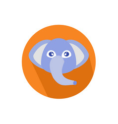 icon elephant head isolated on white background vector image vector image