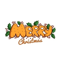 Lettering Merry Christmas vector image vector image