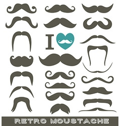 Moustaches set vector image vector image