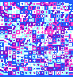 Abstract chaotic colorful geometrical pattern vector