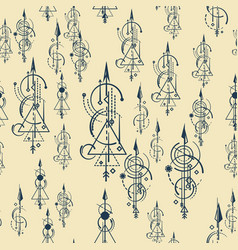Abstract seamless pattern colored arrows vector