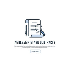 agreement line banner vector image