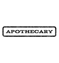 Apothecary watermark stamp vector