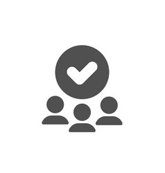 Approved group icon accepted team sign vector