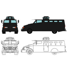 Armored police vehicle vector