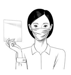 asian girl with surgical mask vector image