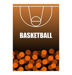 Ball and basketball court Lot of balls Basketball vector image