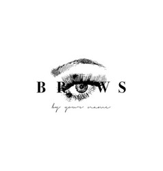 Beautiful hand drawing eyebrows for the vector