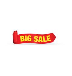 Big big red sale sign vector