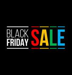 black friday sale promo poster vector image
