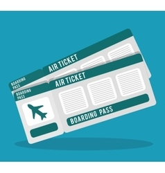 Boarding pass icon image vector