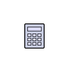 Calculator symbol icon vector