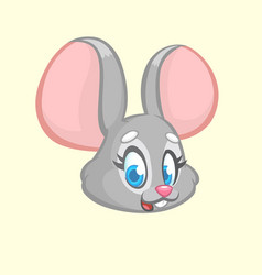 cartoon funny mouse character vector image