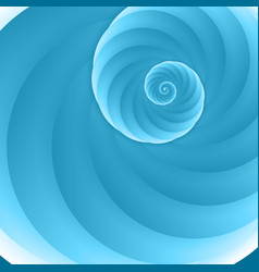 cartoon with blue spiral background vector image