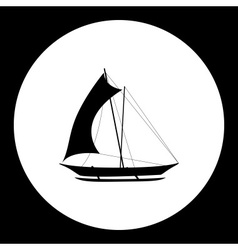Catamaran boat simple isolated black icon eps10 vector