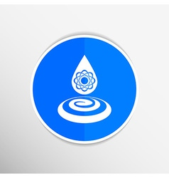 chemical icons icon drop water element formula vector image