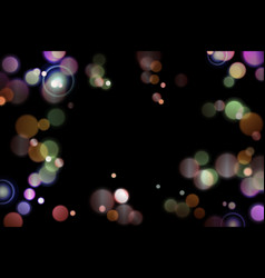 colorful bokeh on blackeps vector image