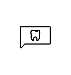 comment dental feedback tooth satisfaction survey vector image