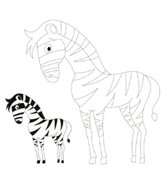 Connect dots game zebra vector