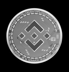 crypto currency binance silver symbol isolated on vector image