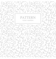 curve seamless pattern retro fashion vector image