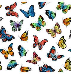decorative butterflies pattern vector image