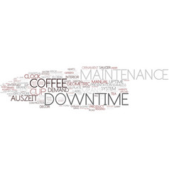 Downtime word cloud concept vector