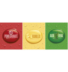 drinksjuice background with drops aloe vera vector image