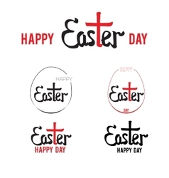 Easter hand lettering 002 vector