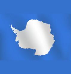 Flag antarctica vector
