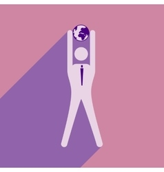 Flat design modern icon vector