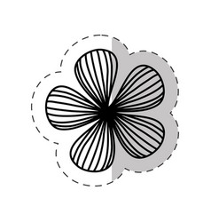 flower natural plant cut line vector image