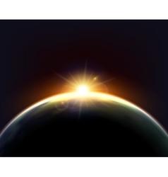 Globe Earth Sunlight Dark Background Poster vector