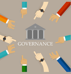 Good corporate governance concept accountable vector