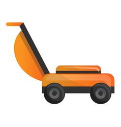 grass cut machine icon cartoon style vector image