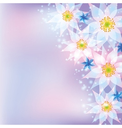 Greeting card abstract background with flowers vector image vector image