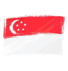 grunge Singapore flag vector image