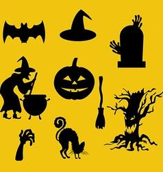 Halloween decor set vector image
