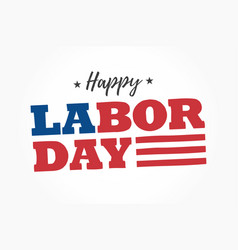 happy-labor-day-logo vector image