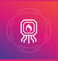 Heating system icon vector