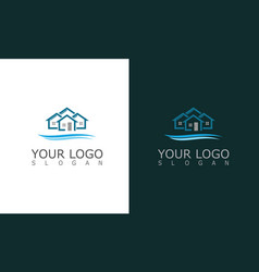house resort logo vector image