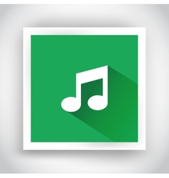 Icon of music for web and mobile applications vector image