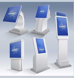 Information interactive kiosk displays vector