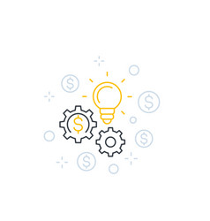 innovations and fintech line icon vector image