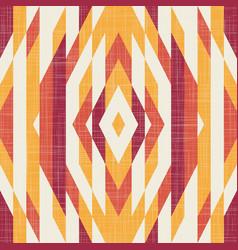 Kilim geo seamless pattern in terra cotta colors vector