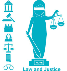 lady justice or iustitia concept vector image