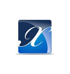 letter x logo design template vector image