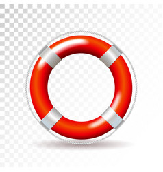 Life buoy isolated on transparent background vector